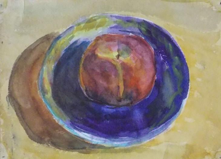 "Натюрморт ""Яблоко на блюдце"""