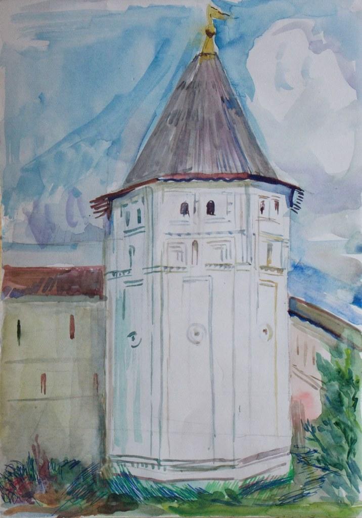 Башня горицкого монастыря
