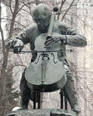 А. Рукавишников. Памятник М. Растропочвичу в Москве.